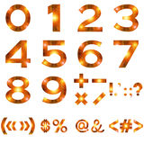 Mathematical Numbers and Signs Set Royalty Free Stock Images
