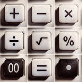 Mathematical Operations as Buttons Royalty Free Stock Photo