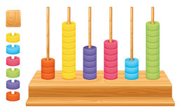 Mathematical place value abacus. Detailed illustration of a mathematical place value abacus Stock Photography