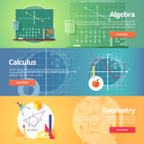 Mathematical science. Algebra. Calculus. Geometry.  Royalty Free Stock Images