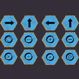Mathematical signs and figures. A set of mathematical figures and icons vector illustration