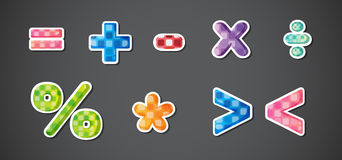 Mathematical symbols Stock Image