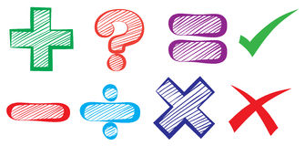 Mathematical symbols Stock Images