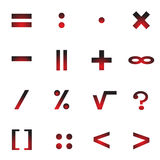Mathematical Symbols Of An Icon. Royalty Free Stock Images