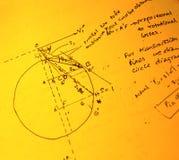 Mathematical text. Close up of mathematical background Stock Photo
