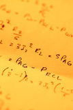 Mathematical text Royalty Free Stock Photography