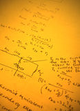 Mathematical text. Close up of mathematical background Royalty Free Stock Photography