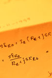 Mathematical text. Close up of mathematical background Stock Photos