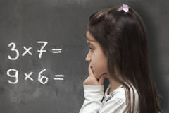 Mathematical thinking Stock Images