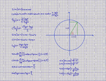 Mathematical Trigonometry Equations Stock Photography