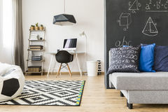 Mathematician's room doesn't have to be boring Stock Photos