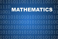 Mathematics Abstract Background Royalty Free Stock Photo
