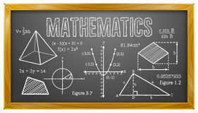 Mathematics, Algebra, Geometry, Trigonometry, Blackboard Royalty Free Stock Photos