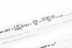 Mathematics background Royalty Free Stock Images