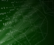 Mathematics background. With trigonometry formulas Royalty Free Stock Photos