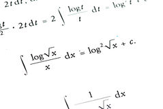 Mathematics background Stock Images