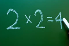 Mathematics on a blackboard Royalty Free Stock Photo