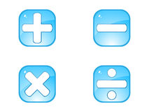 Mathematics button. Isolated on white background vector illustration Royalty Free Stock Photos