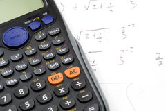 Mathematics and calculator Stock Photo