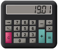 Mathematics calculator. Royalty Free Stock Photo