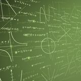 Mathematics chalk board background Stock Photo