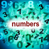 Mathematics Counting Shows One Two Three And Learn Royalty Free Stock Photos