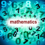 Mathematics Counting Shows One Two Three And Tutoring Stock Image