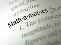 Mathematics - Dictionary Definition Stock Photography