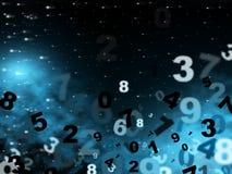 Mathematics Digital Indicates High Tec And Computer. Mathematics Blue Showing High Tec And Digits Royalty Free Stock Photos