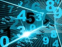 Mathematics Digital Indicates High Tec And Tech. Numbers Mathematics Showing High Tec And Computing Stock Photography
