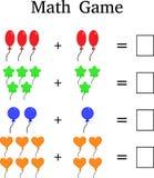 Mathematics educational game for kids stock illustration