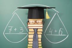 Mathematics. Education unusual concept, equality in mathematics stock image