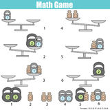 Mathematics educational game for children. balance the scale Royalty Free Stock Image