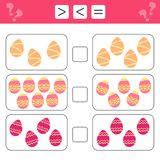 Mathematics educational game for children. Learning counting royalty free stock image