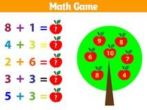 Mathematics educational game for children Vector illustration. Mathematics educational game for children. Vector illustration royalty free illustration