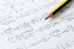 Mathematics and engineering formula Royalty Free Stock Image