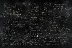 Mathematics equations blackboard Royalty Free Stock Photo