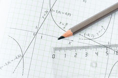 Mathematics exercise Royalty Free Stock Photography