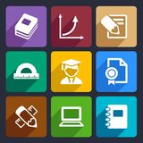 Mathematics Flat Icons Set 51. Mathematics Flat Icons Set for Web and Mobile Applications. Vector stock illustration