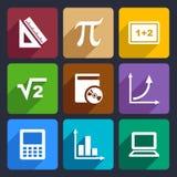 Mathematics Flat Icons Set 52 Royalty Free Stock Photo