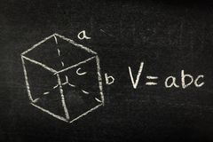 Mathematics Formula on Blackboard stock photo
