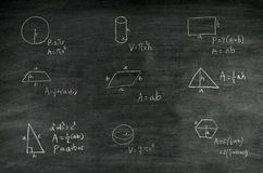 Mathematics formula on blackboard Stock Image