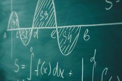 Mathematics function integra graph formulas on the chalkboard. Mathematics function integra graph formulas on the chalkboard stock photos