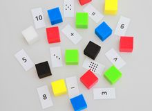 Mathematics. Funny mathematics for litlle children Royalty Free Stock Images