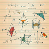 Mathematics - geometric shapes Royalty Free Stock Photo