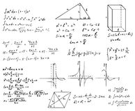 Mathematics and geometry  set. On white Stock Photography
