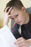 Mathematics homework Royalty Free Stock Photography