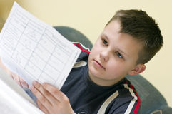 Mathematics homework Stock Image