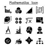 Mathematics icon set. Vector illustration graphic design Royalty Free Stock Photo