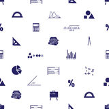Mathematics icons seamless pattern Royalty Free Stock Photography